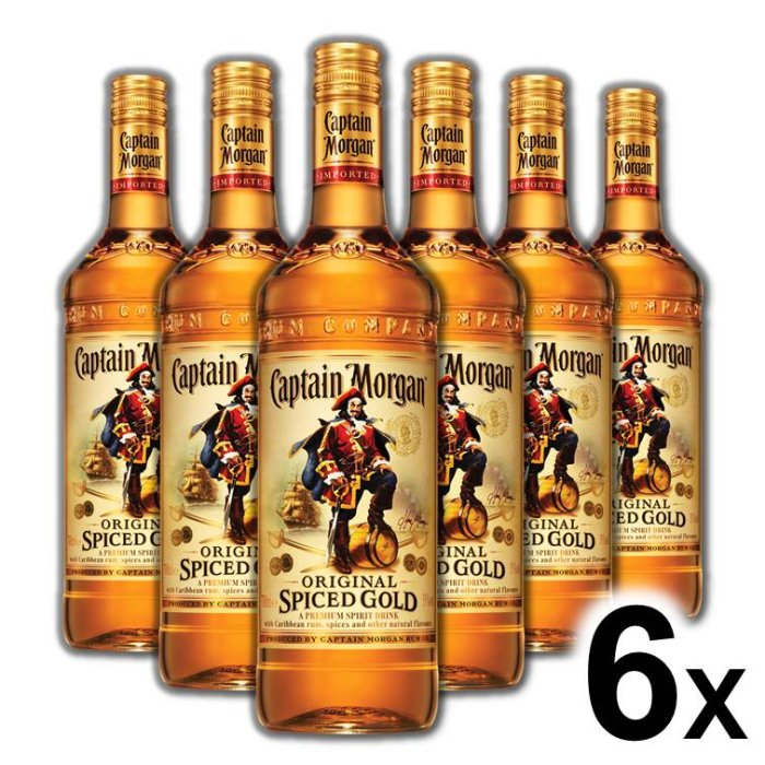 Kartón Captain Morgan Spiced 35% 6x 0,7L
