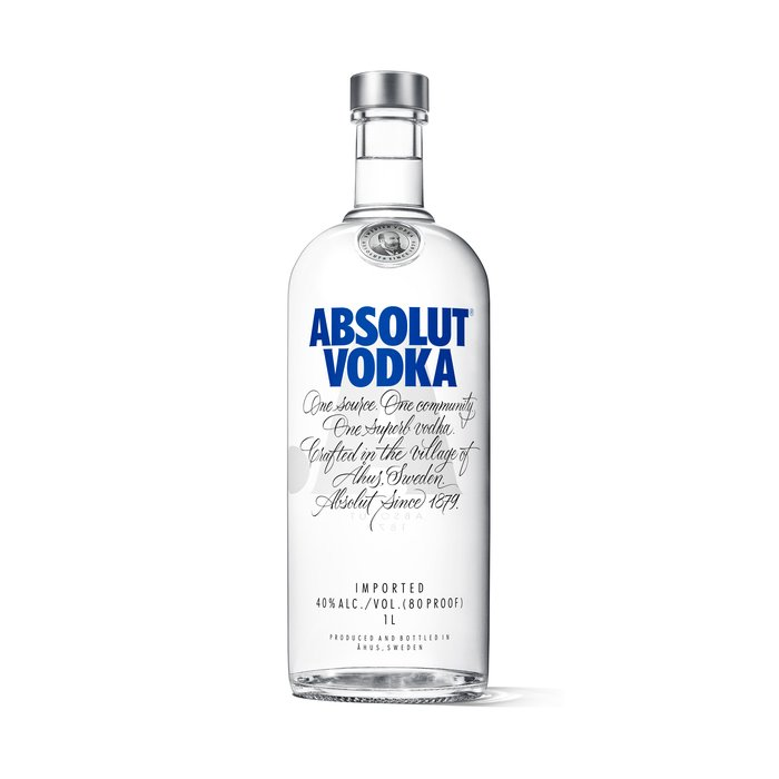 Vodka Absolut Blue 40% 1L